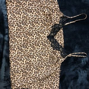 Silk Leopard Slip